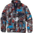 """NEW $79 PATAGONIA BOYS Lightweight """"SYNCHILLA"""" SNAP-T FLEECE PULLOVER"""