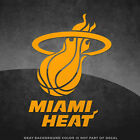 "Miami Heat NBA Vinyl Decal Sticker - 4"" and Larger Sizes - 30+ Color Options! on eBay"
