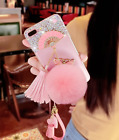 luxury  protective sleeve set diamond fan Tassel phone shell for iPhone6/7