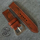 Handmade LP Watch Hand drawn Leather Strap Band for Panerai or big watch