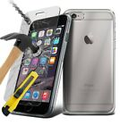 Clear Tpu Gel Case And Tempered Glass Screen Protector For Apple Samsung Phone