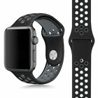 Replacement Soft Silicone Sport Band Bracelets Strap For Apple Watch 38mm 42mm