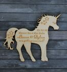 PERSONALISED Wooden UNICORN Save the Date Magnets Magical/Fantasy Wedding