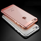 Ultrathin Crystal Clear Plating Soft TPU Cover Phone Case For iPhone 6 6s 7 Plus