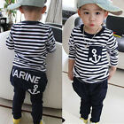 Toddler Kids Baby Boys Outfits Long Sleeve Shirt Tops + Harem Pants 2pcs Clothes