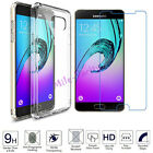 Tempered Glass + Thin Clear TPU Soft Back Case Cover for Samsung A3 A5 A7 (2017)