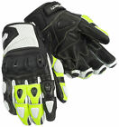 CORTECH IMPULSE ST WHITE HI VIS YELLOW Short Leather Gloves FREE SHIPPING