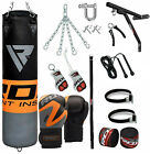 RDX Punching Bag Boxing Punch Filled Swivel Chains Set Gloves Leather Kick Bags