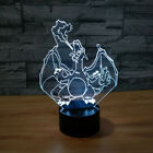 Dinosaur 7 color USB 3D Illusion LED Acrylic Night Lights Touch Switch Desk Lamp