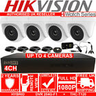 4CH HIKVISION HIWATCH DVR + X1 2 3 4 1080P 2.0mp MINI Dome CCTV CAMERA HOME KIT