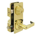 Interconnected Entry Door Lock Set Grade 2 Commercial Lever in 2 Finishes By FPL