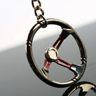 Racing Car Steering Wheel Zinc Alloy Mini Keychain Keyring keyfob Pendent