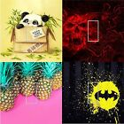 LIGHT SWITCH COVER VINYL STICKER SKIN PLATE PANDA SKULL FLAMES PINEAPPLE BATMAN