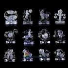 New 3D Crystal Zodiac Signs Flashing LED Light Kids Jigsaw Puzzle Model Toy Gift