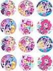 """1.5"""" Precut Icing Cupcake Toppers My Little Pony 12 or 24 Rainbow Dash"""