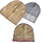 Women's hat knitted jersey metallized winter baseball cap new M-1117