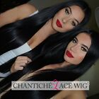 100 Human Hair Lace Front Silky Straight Wigs For Black Women Brazilian Remy Wig