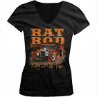Rat Rod Motorworks Forged In Time Hot Classic Car Engine Juniors V-Neck T-Shirt