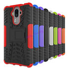 Rugged Rubber Hybrid Armor Shockproof Hard Case Stand Cover For Huawei Mate 9