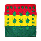 Marijuana Weed Leaf Stoner 100% Cotton Bandana Scarf Head Neck Tie