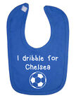 I Dribble For Chelsea Baby Bib. English Football. New Born. Christening.