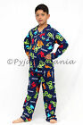 Pyjamas Boys Flannel 2pc Pjs Set (Sz 3-7) Navy Blue Skate Skateboard Sz 3 4 5 6
