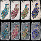 Bling 3D Peacock Transparent TPU Soft Ultra Thin Back Case Cover Skin #1 M13