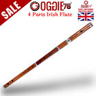 "IRISH D FLUTE ROSEWOOD 4 PART 26"" PROFESSIONAL OGGIE76UK WITH WOODEN HARD CASE"