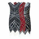 ART DECO 20s HEAVILY EMBELLISHED PARTY COCKTAIL FLAPPER GATSBY DRESS NEW 8 - 24