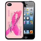 PERSONALIZED RUBBER CASE FOR iPHONE 5 5S 5C SE 6 6S 7 PLUS BREAST CANCER RIBBON