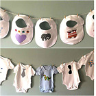 10 x Baby Shower Game Craft Activity Station - Decorate a Bib / Vest Personalise