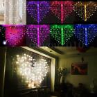 128 LED Heart-Shape 10 Ft. Curtain String Lights Valentine's Day Wedding Party