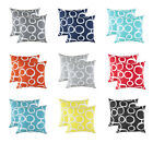 TreeWool, (2 Pack) Throw Pillow Cushion Covers in Cotton Canvas Ringo Accent