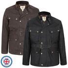 MENS WAXED COTTON/OILSKIN MOTORCYCLE BIKER JACKET BELTED - MADE IN GB  XS-2XL