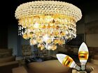 Modern Gold/Chrome K9 Crystal Wall Light with Great Droplets Crystal Balls UK