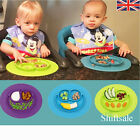One-piece Baby Kids Silicone Mat Suction Table Food Tray Placemat plate Lovely
