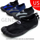 Wave Men's Outdoor Beach Pool Water Sports Aqua Toe Water Shoes M2285 (Adults)