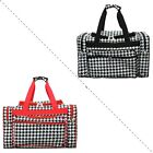 New Houndstooth Print Medium Carry on Shoulder Duffle Bag