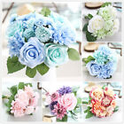 Home Garden - Artificial♡Rose Peony Silk Flowers Leaf Bouquet Home Floral Wedding Garden Decor