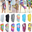 Women Summer Beach Chiffon Wrap Sarong Dress Swimwear Cover Up Multicolour Scarf