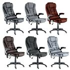 Leather Executive Gaming Computer Desk Office Swivel Reclining Massage Chair
