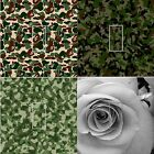 LIGHT SWITCH COVER VINYL STICKER SKIN PLATE GREEN BROWN ARMY CAMOUFLAGE ROSES