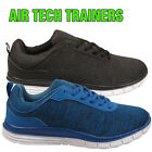 MENS RUNNING AIR TECH SPORTS TRAINERS CASUAL GYM WALKING LACE LIGHTWEIGHT SHOES