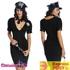Ladies Black Cops Police Uniform Halloween Party Fancy Dress Costume Outfit