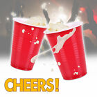AMERICAN LARGE PLASTIC RED PARTY CUPS SOLO BEER PONG DISPOSABLE REUSABLE 160z