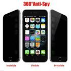 Anti-Spy Peeping Privacy Tempered Glass Screen Protector for iPhone 7/7 Plus ZE