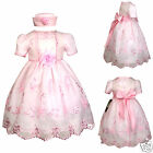 New Baby Girl & Toddler Wedding Prom Easter Formal Party Dress sz S M L XL Pink