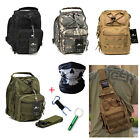 Tactical Sling Chest Bag Assault Pack Messenger Shoulder Bag Backpack +Face Mask