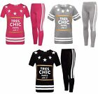 Girls Tres Chic Paris Suit Top Stretch Leggings Clothes Outfit Age 7-13 Years