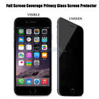 9H Tempered Glass Anti-Spy Protector Privacy Screen Film For iPhone 5S/6/7Plus